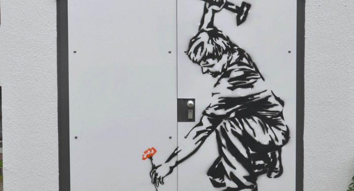 Kunst am Trafo Aktion von Rothmoser mit dem Gymnasium Grafing