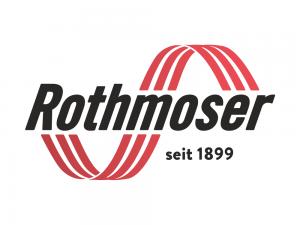 Rothmoser Logo in rot schwarz mit Wellen und Schriftzug seit 1899