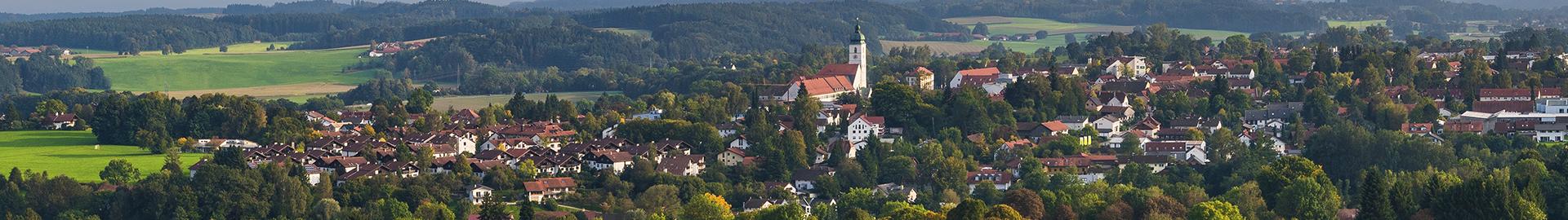 Panorama über Ebersberg vom Aussichtsturm aus