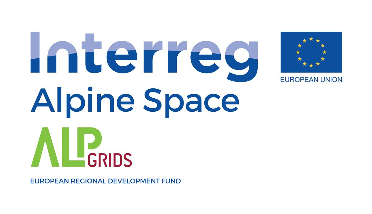 Logo des Interreg Alpgrids Programms der EU an der Rothmoser teilnimmt